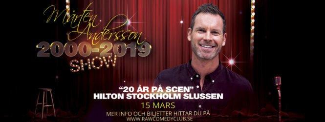 MÅRTEN ANDERSSON – 20 ÅR PÅ SCEN
